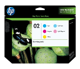 Genuine OEM HP CC604FN (HP 02) MuLighti-Pack Inkjet Cartridge (Combo Pack)
