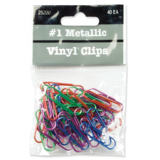 "Jumbo Vinyl Clips, 1-1/8"", 40/PK, Assorted"