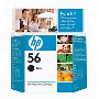 Genuine OEM HP C6656AN (HP 56) Black Inkjet Cartridge (440 page yield)