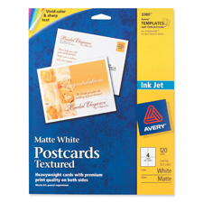 "Post Cards,Textured,Card Size 4-1/4""x5-1/2"",Matte,120/BX,WE"