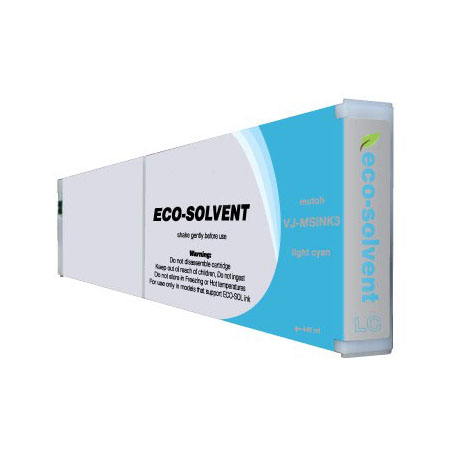 Premium Quality Light Cyan Eco-Ultra Ink compatible with Mutoh VJ-MSINK3 LC-440