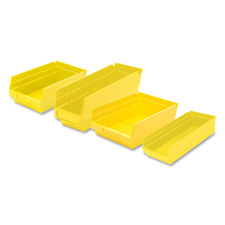 "Shelf Bin,Grease/Oil Resistant,4-1/8""x11-5/8""x4"",Yellow"