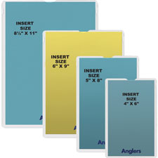 ANGLER'S Self-stick Crystal Clear Poly Envelopes