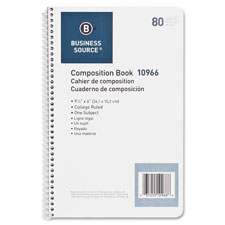 "Spiral Wirebound Notebook,College Rule,6""x9-1/2"",80Shts,WE"