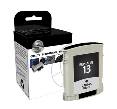 "<img src=""/Images/Recycler.gif"" height=""15"" border=""0"" width=""15""><font color=""#008000""><b>Premium Quality Black Print Cartridge compatible with the HP (HP 13) C4814A (800 page yield)"