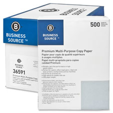 "Multipurpose Paper,20lb.,92 Bright,8-1/2""x11"",40CT/PL,White"
