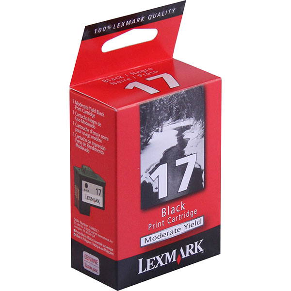 Lexmark 10N0217 (Lexmark #17) Black OEM Ink Cartridge