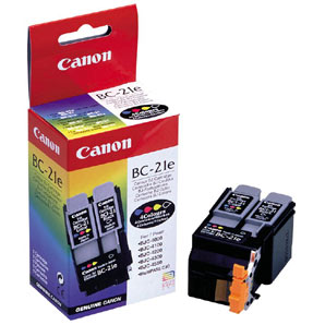 Canon 0899A003AA (BC-21C) Tri-Color OEM Inkjet Cartridge