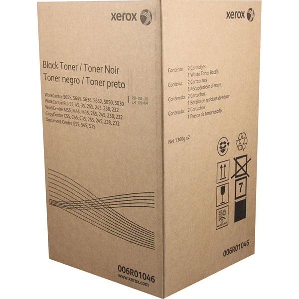 Xerox 6R1046 Black OEM Toner Cartridges (2 pk)